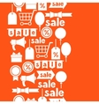 Seamless pattern with sale and shopping icons vector image