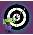 alien girl with gun vector image