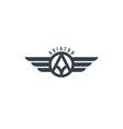 aviator wing theme vector image