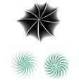 Halftone Radials vector image vector image