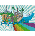 denpasar doodles vector image vector image