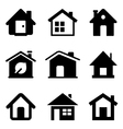 Black home icons vector image