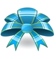 Blue ribbon bant vector image