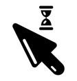cursor icon simple black style vector image