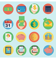 finance icon in flat design vector image