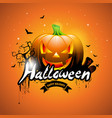 happy halloween with pumpkin vector image