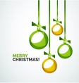 Merry Christmas modern card - abstract baubles vector image