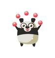 Panda Bear Party Animal Icon vector image