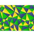 Polygonal background with Brazil flag colors vector image