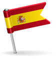 Spanish pin icon flag vector image
