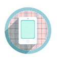 Vintage mobile phone icon vector image