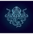 Octopus in retro deep diving suit Eye of vector image