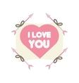 greeting i love you heart arrow ribbon vector image