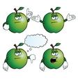 Bored apple set vector image
