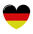heart with flag of germany vector image