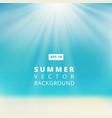 Summer beach with sunlight blue sky vector image