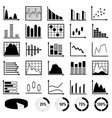 collection of diagrams and charts vector image vector image