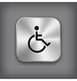 Disabled icon - metal app button vector image vector image