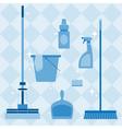 Domestic tools set vector image