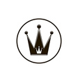 3d vintage crown luxury coronet Classic imperial vector image