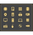 Computer hardware icons vector image vector image