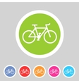 bicycle icon sign symbol logo label set vector image
