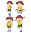 Little boy in four different poses vector image vector image