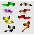 colorful ribbon arrows collection vector image