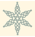 Rope decorative celtic star composition vector image