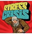 Antique Atlas stress crisis strong man businessman vector image
