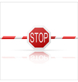 Barrier with a Stop on a white background vector image
