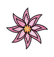 beautiful flower ornament vector image