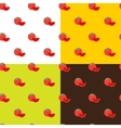 flat tomatos seamless pattern vector image