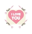 greeting i love you heart arrow ribbon vector image