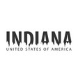 indiana usa united states of america text or vector image