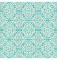 seamless vintage floral pattern blue vector image