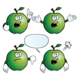 Angry apple set vector image