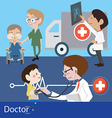 Doctors and staff vector image