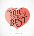 mothers day greeting card with pastel heart vector image vector image