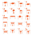 set of barbecue grilll with boar and chicken icons vector image