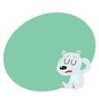 polar bear having headache sitting with closed vector image vector image