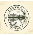 Grunge rubber stamp with Las Vegas Nevada vector image vector image