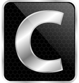 Silver typographic c vector image vector image