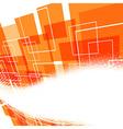 Modern bright orange swoosh background vector image