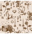 Doodle Valentine pattern vector image vector image
