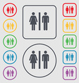 silhouette of a man and a woman icon sign symbol vector image