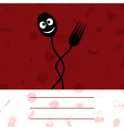 plug and spoon on a red background a vector image