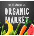 Organic food market vector image vector image