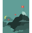 leadership concept with mountain landscape vector image