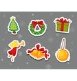 Sticker collection of presents vector image vector image